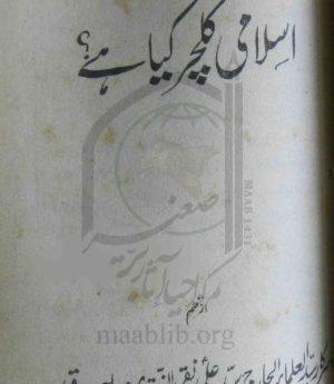 اسلامی کلچر کیا ہے؟