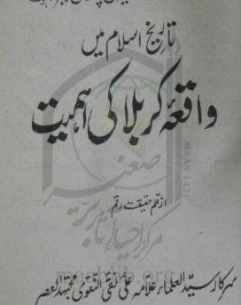 تاریخ اسلام میں واقعہ کربلا کی اھمیت