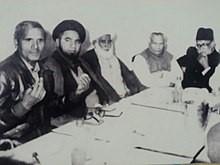 علامہ حسین بخش جاڑا اعلی اللہ مقامہ کی کنونشن بھکر میں شرکت